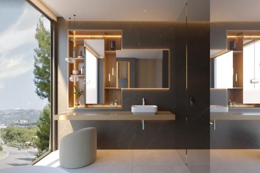 Baño en suite del dormitorio