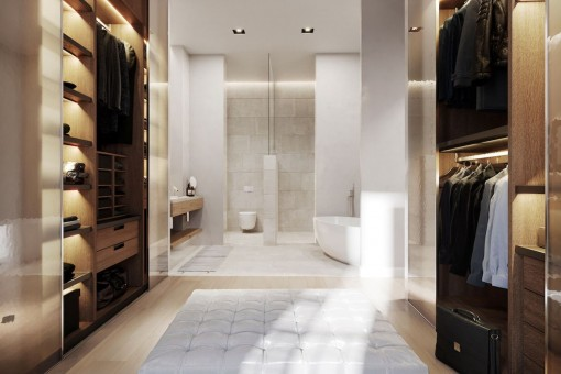 Vestidor grande y baño en suite