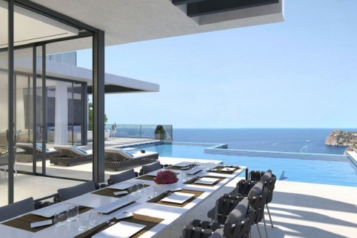 Elegante chalet de diseño con fantásticas vistas al mar en Cala Llamp