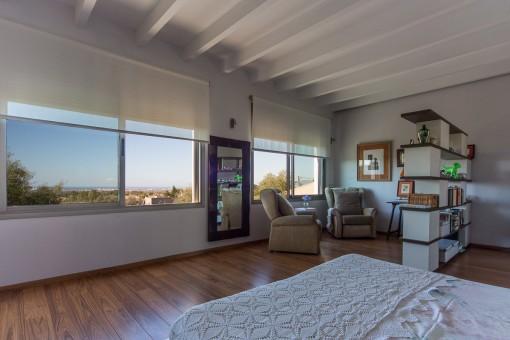 Vistas panorámicas desde el dormitorio principal