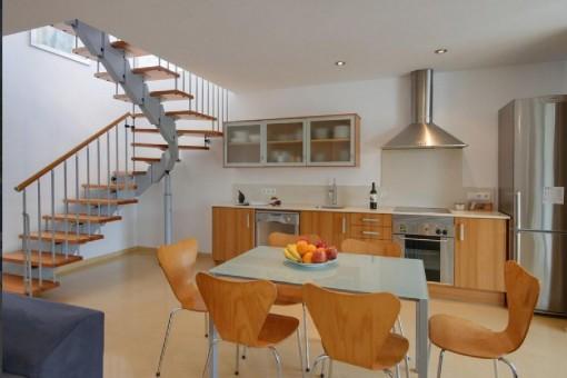 Cocina moderna y abierta