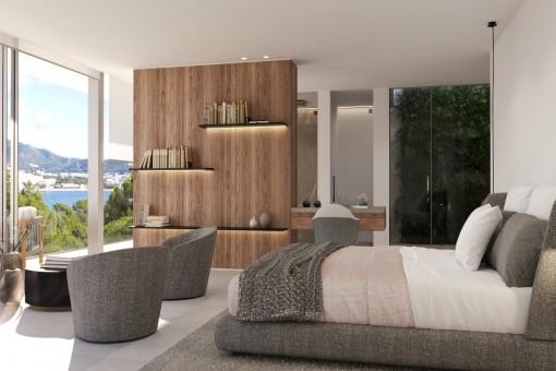 Dormitorio principal con baño en suite y vestidor