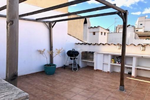 Ático con gran terraza en el casco antiguo de Palma