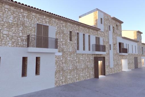 Casa de pueblo de alta calidad y con piscina en contrucción en Santanyi