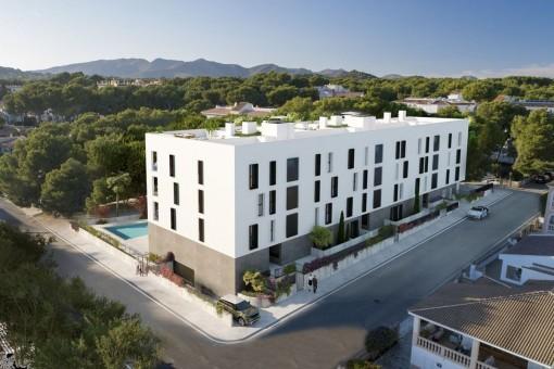 Complejo de nueva construcción con apartamentos modernos en Cala Ratjada