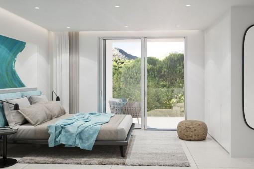 Dormitorio doble elegante
