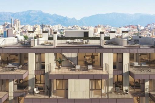Espectacular y lujosa nueva construcción con terrazas y piscina en una deseada zona de Santa Catalina