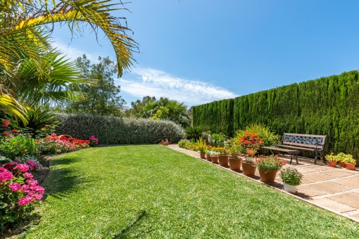 Jardín grande