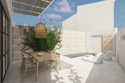 Casa adosada de primera clase completamente reformada en Ses Salines
