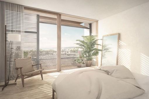 Dormitorios espacioso con baño en suite