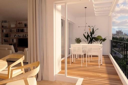 Elegante apartamento con vistas a la Bahía de Palma en Santa Catalina
