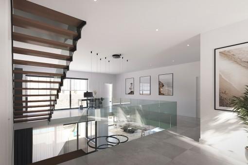 Elegant upper floor