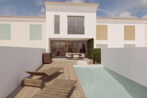 Exclusiva casa de pueblo con piscina en Santanyí