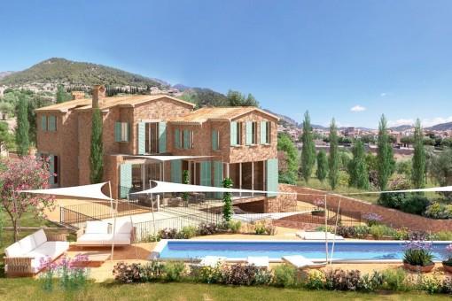 Nuevo proyecto de lujo en Alaró para la construcción de una finca con mucho terreno para la cría de caballos o la viticultura